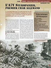 FICHE CHAR A7V STURMPANZER - ALLEMAGNE 1918