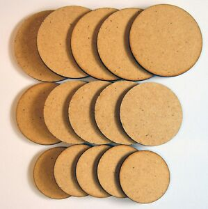 10x Wooden 6mm MDF Shapes Circle Blanks Craft Decoration Tag 20-120mm