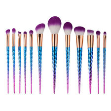 12Pcs Unicorn Makeup Brushes Cosmetic Tool Kit Eyeshadow Powder Brush Set US