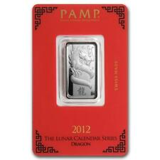 10 gram Silver Bar - PAMP Suisse (Year of the Dragon) #PAPPS22258 Lot 20161094