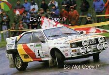 Malcolm Wilson Audi Quattro A1 Scottish Rally 1985 Photograph