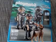 Playmobil 5181 Polizei Hundestaffel ( 3 Figuren + Hund)