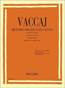 VACCAJ - Metodo pratico di canto per soprano o tenore + CD