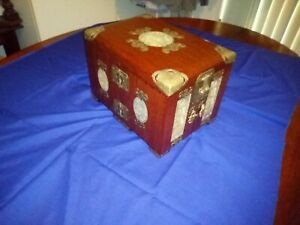 Chinese jewellery box, solid Rosewood