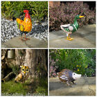 Colourful Outdoor Garden Animal Statues Ornament Farmyard Animal Metal Sculpture