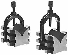 Brown and Sharpe 599-750-1 V Block and Clamp Pair Set, Hardened Steel