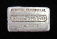 10 oz .999 Silver Engelhard Bar