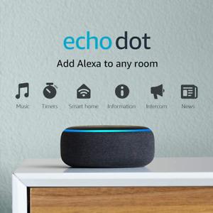 Echo Dot (3rd Gen) - Smart speaker with Alexa - Charcoal h