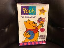 Vintage Cleo- Pooh 32 valentines fold & seal w/stickers