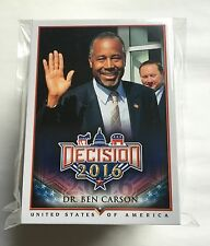 Decision 2016 Series 1 COMPLETE SET of 110 Cards / Hillary, Trump, Obama, Bernie
