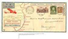 CHINA 1933 FIRST FLIGHT CV CANTON-SHANGHAI + ORIGINAL TIME TABLE CNAC AIRLINES