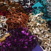 Cow Leather Skeleton Scraps Fashion Multi-Colored 2-5 oz Pieces 1 lb Remnants