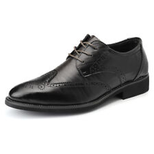 Men's Dress Formal Oxfords Shoes Leather Suit Lace up Brogue Wing Tip Wedding