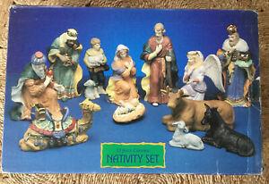 Vintage Christmas 13 Piece Ceramic Natvity Set from David Jones 1998