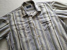 SUGAR CANE american mart shop represent quality pinstripe work shirt large vtg