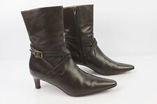Bottines RALPH LAUREN Tout Cuir Marron 6,5 C / 37 FR TTBE
