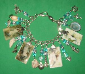 Victorian Mermaids-Altered Art Charm Bracelet -One of a Kind