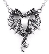 Heart Wings Steel Pendant Necklace Cn102 Controse Steamin Hot Love Two Dragons