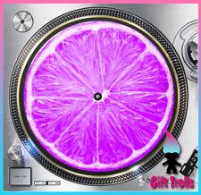 "Purple Lime Slice Turntable Slipmat - 12"" LP Record Player, DJ Slipmat"