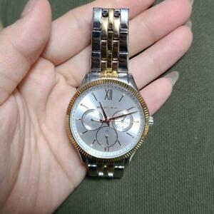 Michael Kors MK-4431 Gold Silver All Stainless Steel Analog Ladies Watch