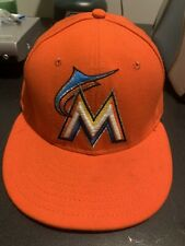 New Era 59Fifty Miami Marlins Fitted Hat 5950 Official On Field MLB Baseball Hat