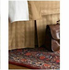 Ralph Lauren Suite Glen Subtle Plaid Camel California King Bedskirt bed skirt