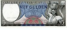 SURINAME 1963 5 GULDEN CURRENCY UNC