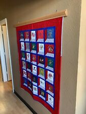 Beautiful Red Oak Compression Quilt Hanger W/Trim (up to 54 inches wide)
