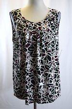 Nine West Womens Blouse Chiffon Printed Size XL #A1218