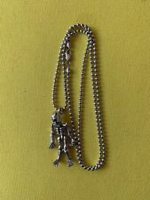 "Full Skeleton Pendant And Chain 30"" Stering Silver Baby King"