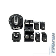 7pcs For VW Jetta Golf GTI MK5 MKV Rabbit OEM Chrome Headlamp Window Switch