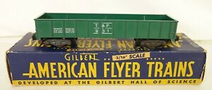 AMERICAN FLYER #931 TEXAS AND PACIFIC GONDOLA CAR-VG+ IN ORIG. BOX!