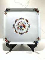 Vintage LIMOGES Chamart LEC France Square hand pained serving tray plate 8.5""