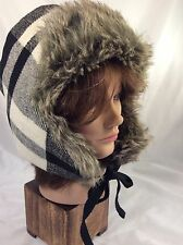 Womens American Eagle Outfitters Wool/ Faux Fur Aviator Hat