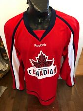 Mens Large Reebok Hockey Jersey Molson Canadian Beer Kelsey's