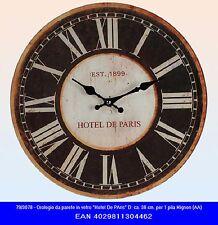 Orologio da muro parete in vetro cm 38 stile vintage con numeri romani