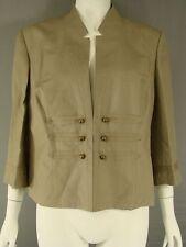 Waist Length Linen Patternless Coats & Jackets for Women