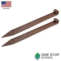 """10"""" Inch BROWN Garden Landscape Edging Board Spikes Anchoring Stakes Fits Dimex"""