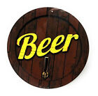 Beer Keg with Tap 30cm Round Colorfull Aluminium Sign for Wall, Bar, Gameroom