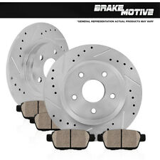 REAR DRILLED SLOTTED BRAKE ROTORS AND CERAMIC PADS 2001 2002 Ford Explorer Sport