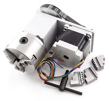 CNC Engraving Router Rotational A 4th Axis,100mm 3jaw Chuck Nema34 Stepper Motor