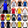 Mens Gym Bodybuilding Stringer Tank Top Muscle Workout Fitness Sport Vest Shirt