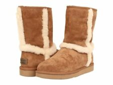 UGG® AUSTRALIA CARTER CHESTNUT SUEDE PULL ON BOOTS UK 7.5 EUR 40 USA 9 RRP £180