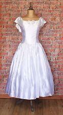 Genuine Vintage Wedding Dress Gown 80s Retro Victorian Edwardian Style UK 8