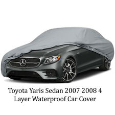Toyota Yaris Sedan 2007 2008 4 Layer Waterproof Car Cover