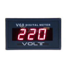 New Mini AC0-600V LED Panel 3-Digital Display Two Wires Voltage Voltmeter Hot