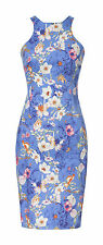 NEW NWT ZARA FLORAL RACER BACK BODY CON PENCIL WIGGLE DRESS XS EXTRA SMALL