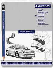 Staedtler Lumograph Draw Pencil Tin  Range of 19 Grades