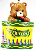 Binney & Smith CRAYOLA Christmas holiday ornament with cute TEDDY BEAR T9263