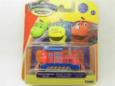 TOMY CHUGGINGTON WOODEN MAGNETIC TRAIN- PATROLLER CALLEY HEAD W/ BOX